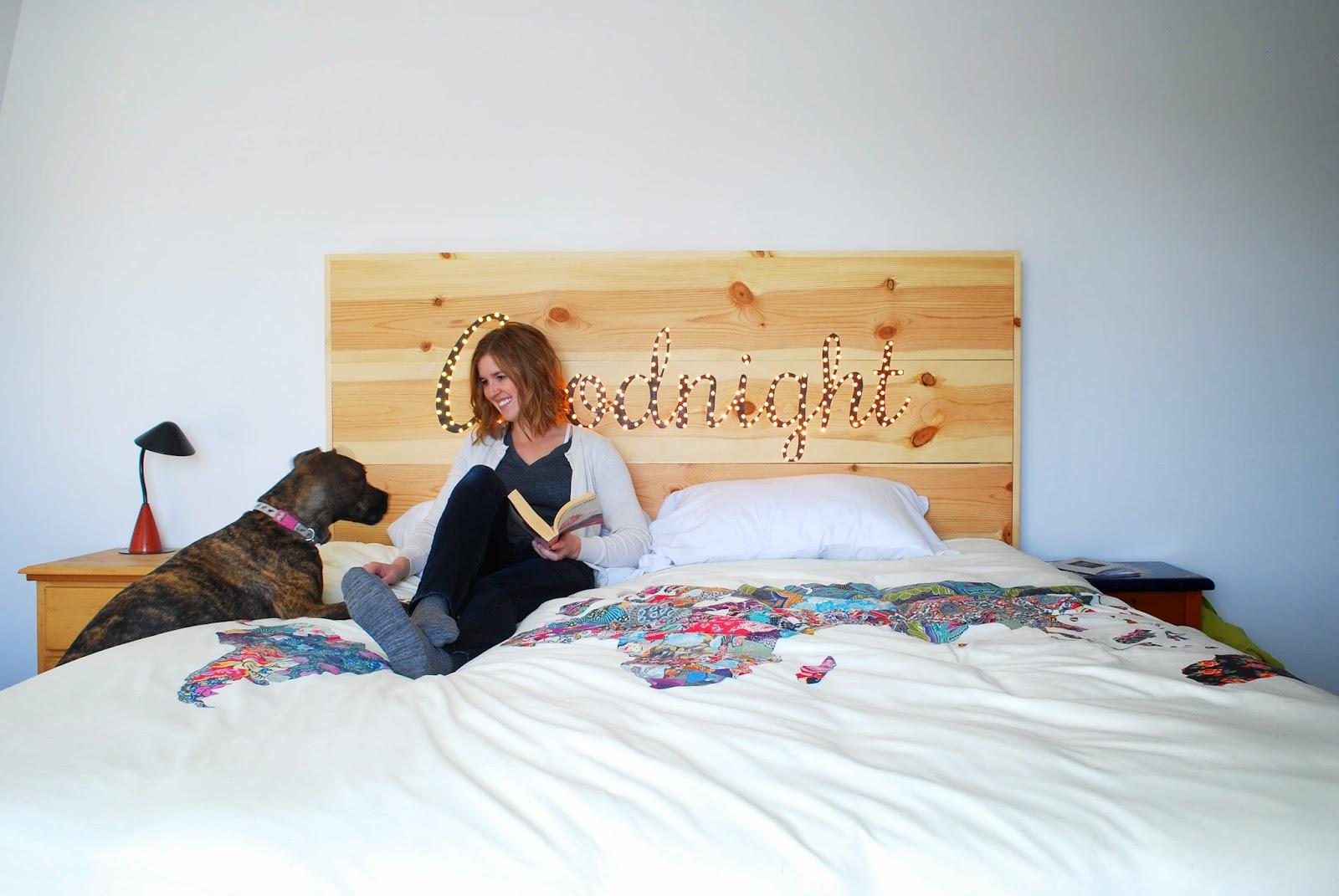 tête de lit lumineuse, tête de lit lumière, DIY tête de lit, faire sa tête de lit soi-même