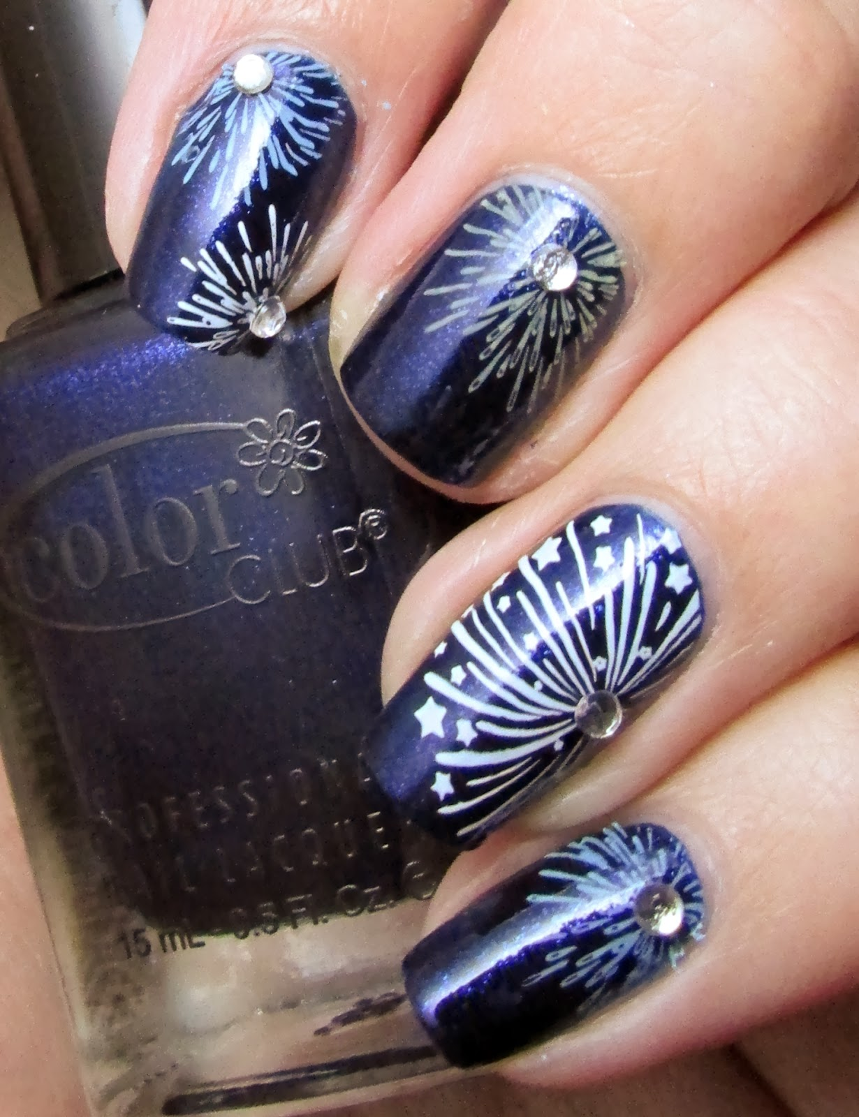 Life In Lacquer Firework Nail Art