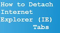 How to detach IE Tab