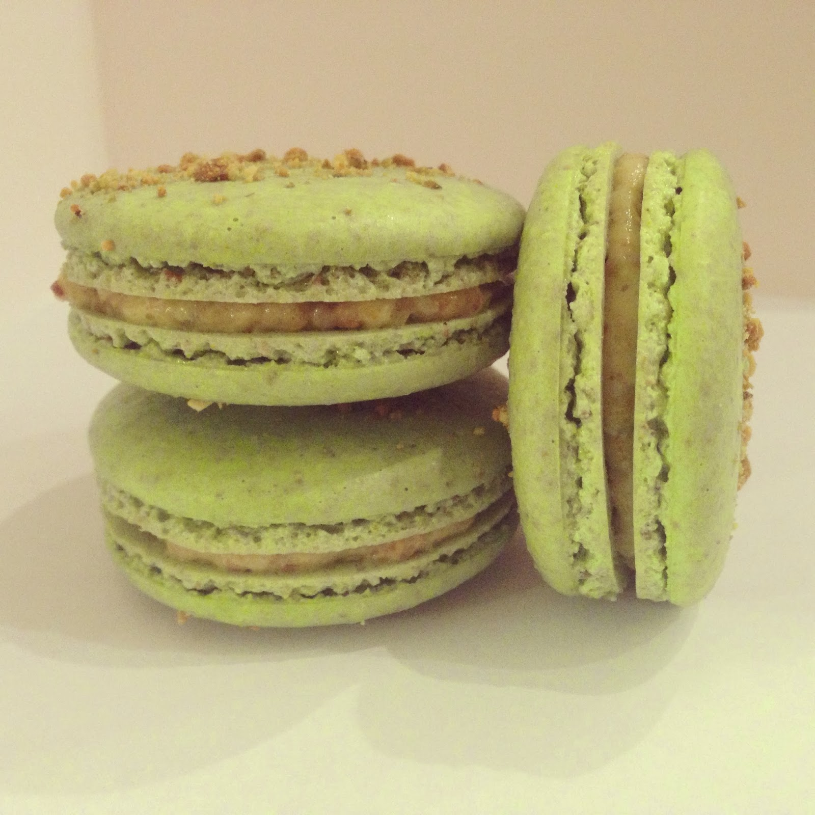 Love and Macarons.: Pistachio Macarons with a Pistachio Custard ...