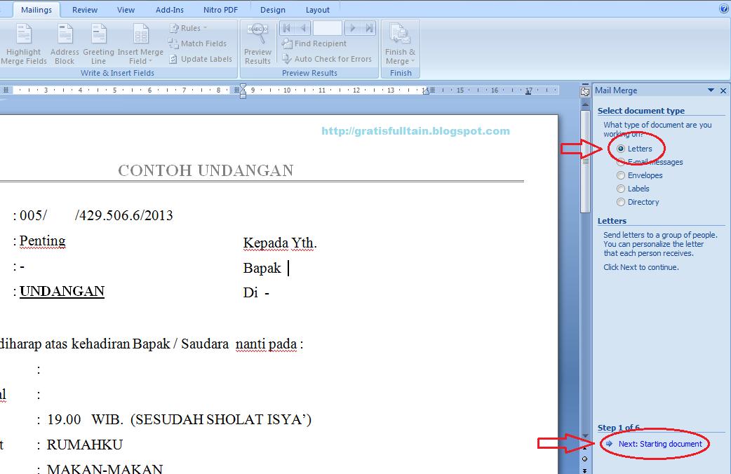 Cara Menghias Udangan Tulisan Untuk Di Microsoft Word