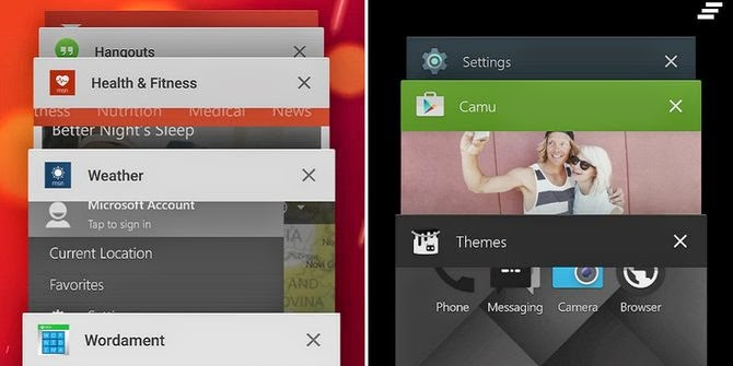 Tampilan Shortcut Aplikasi Dibuka Penuh