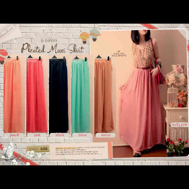 Maxi dress chiffon murah