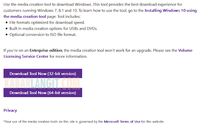 Download Windows 10 Media Creation Tool 32/64 Bit
