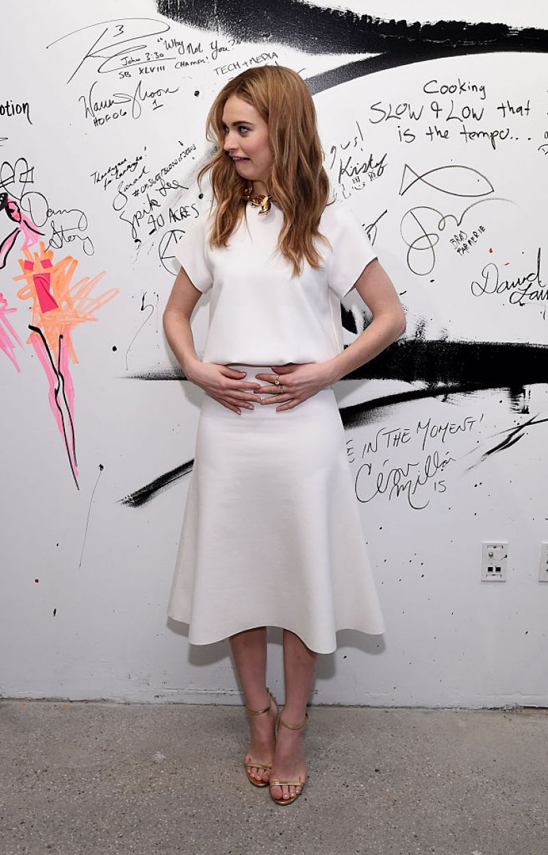 Lily James at AOUL Build Speaker Series in New York