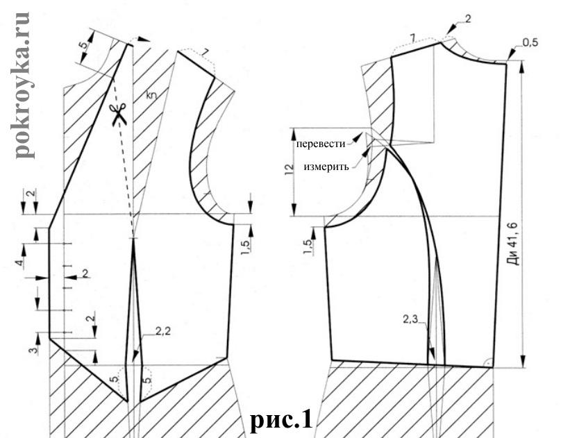 выкройка жилетки женской на синтепоне
