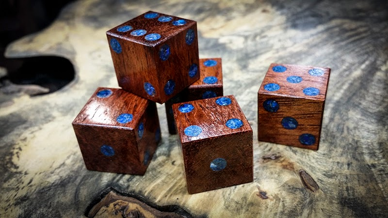Dice Bubinga and Lapis Lazuli