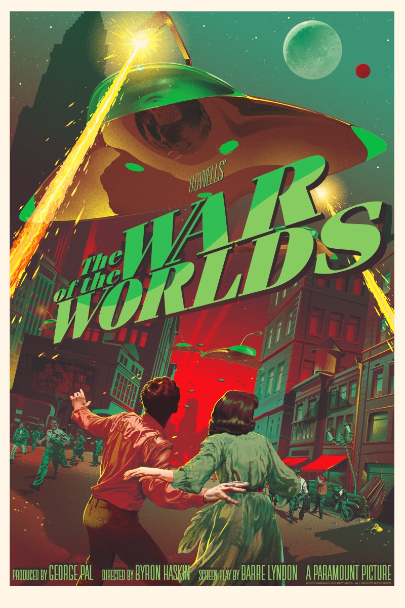 The War of the Worlds Glow in the Dark Variant Screen Print by Stan & Vince