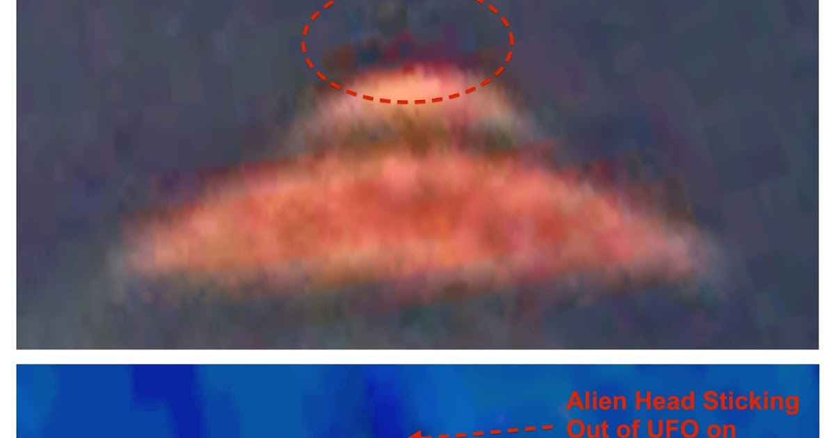 UFO With Alien Head Sticking Out On Google Earth Map, June 2014, UFO Sighting News.