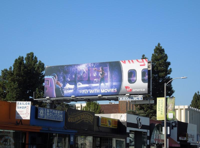 Fly movies Virgin America billboard