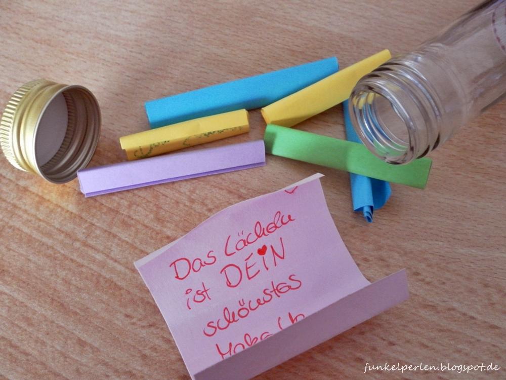 DIY Qickie: Flaschenpost mit guten Wünschen oder ein Monat voller Glück