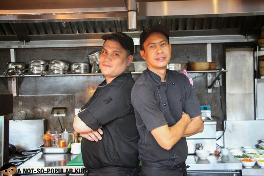 The awesome Chefs Billy and Martin of F1 Hotel Manila