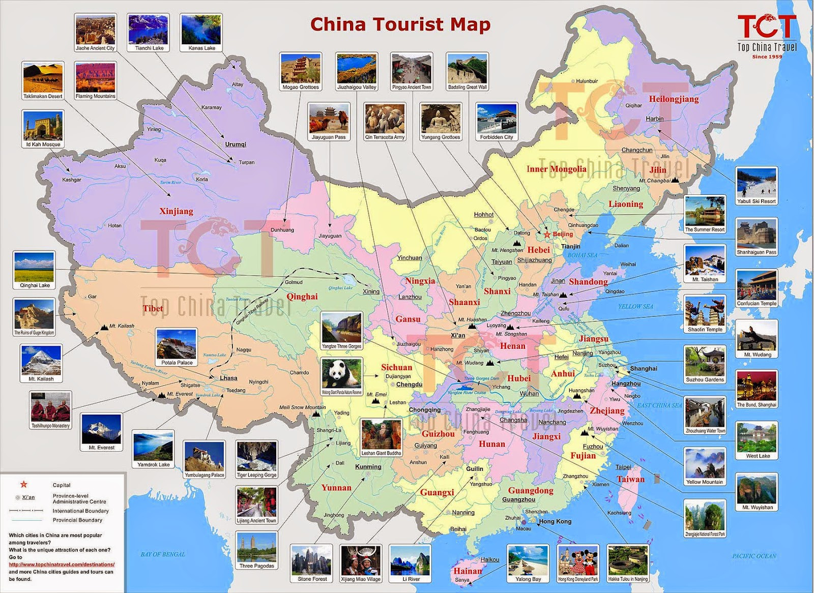 Carte touristique de chine lakestevensflorist for Carte touristique