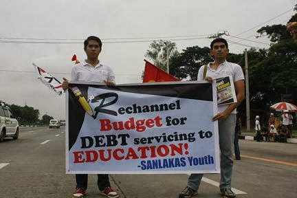 Sanlakas youth on education