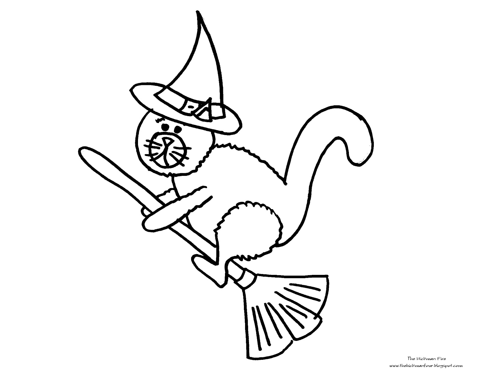 Free Coloring Pages Of Halloween Cat