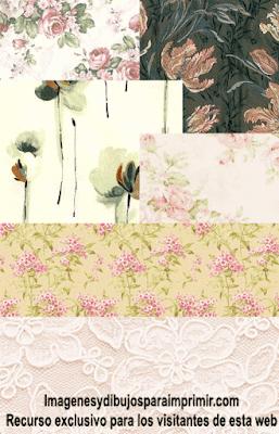 papel de scrapbook de flores para imprimir