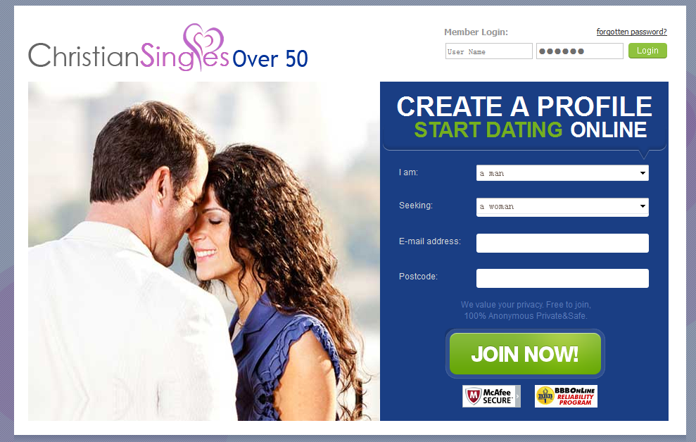 Over 50 dating site