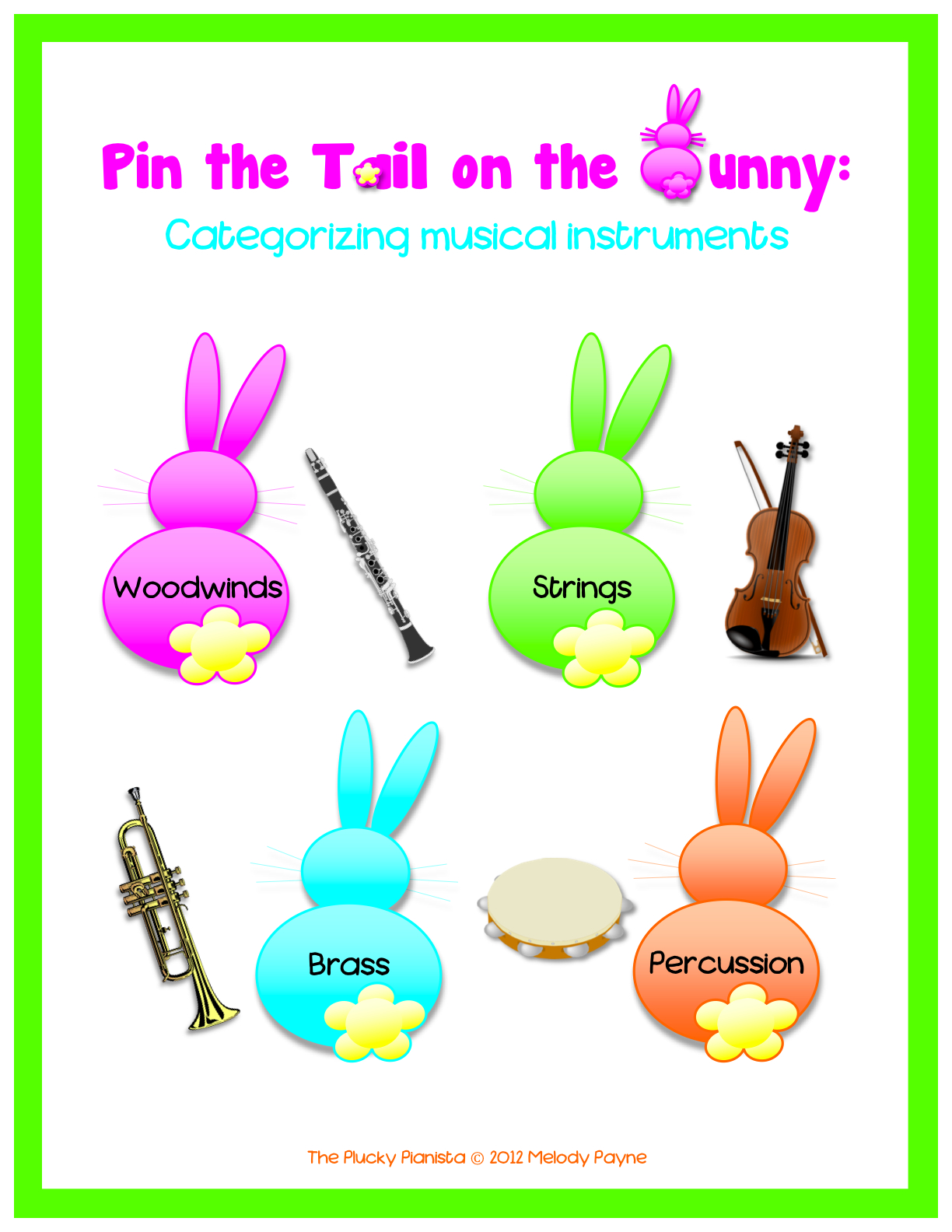 Magic image within pin the tail on the bunny printable