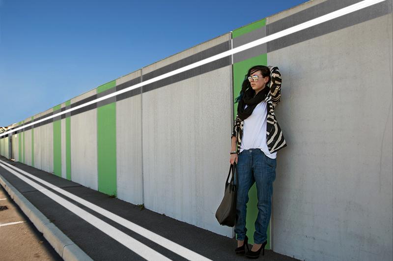 For Peet's Sake blog zebra Zara blazer boyfriend jeans black pumps heels