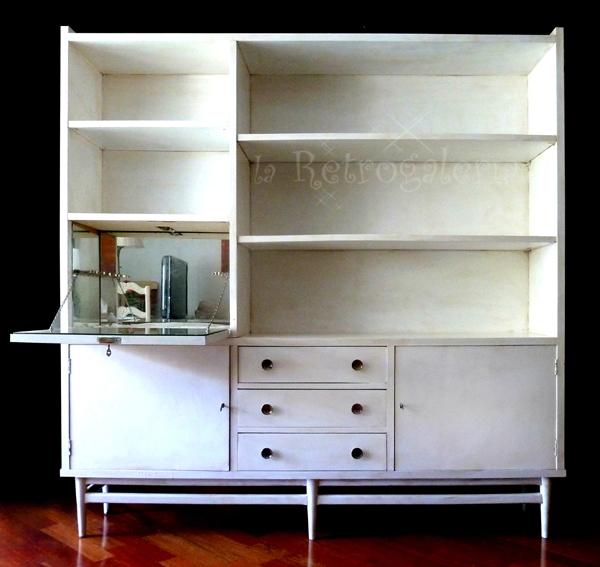 La retrogaleria mueble bar estanter a librer a antigua de - Mueble anos 50 ...