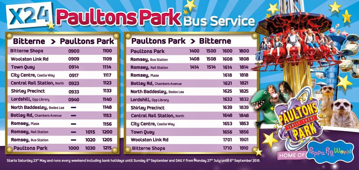 X24 bus timetable first