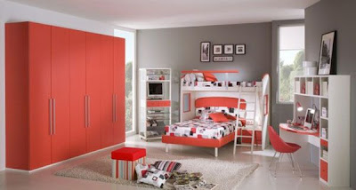 The Interior Design Of The Bedroom Of Teenage Girls , Home Interior Design Ideas , http://homeinteriordesignideas1.blogspot.com/