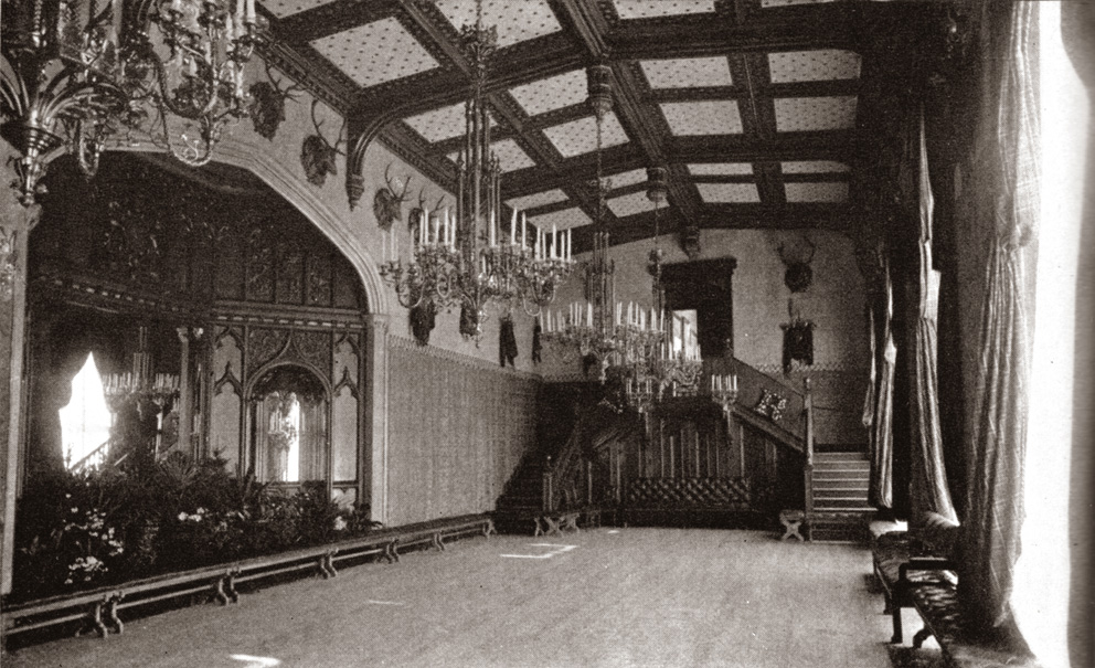 Balmoral Castle Ballroom  1890 s  The annual Gillies  Ball would normally  be held here. The Lothians  The Royal Residences of Queen Victoria   Balmoral Castle