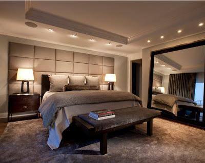 Decoración de interior de habitación contemporánea