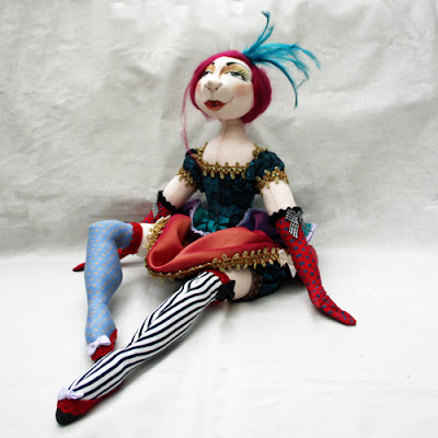 showgirl cloth art doll
