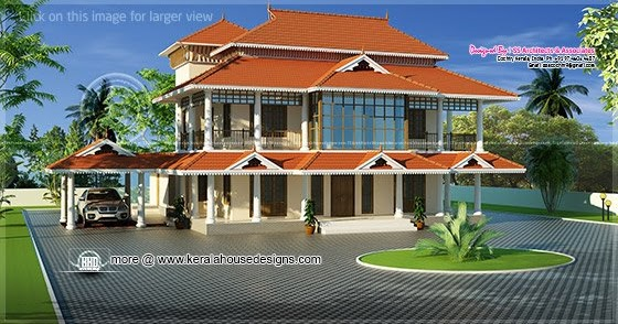 Kerala style luxury traditional home home kerala plans for Luxury traditional homes