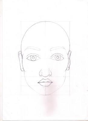 Pratik ölçülü Yüz çizimi Merilila