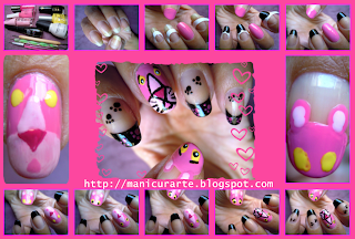 pink panther nails tutorial