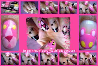 pink panther nails tutorial