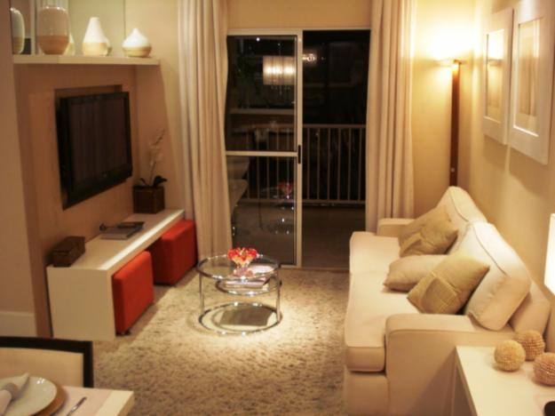 decoracao sala kitnet : decoracao sala kitnet:Os apartamentos pequenos, com cerca de 50 m², estão dominando o