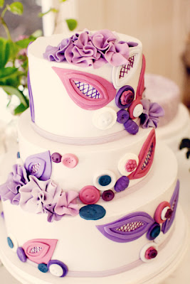Wedding Cakes Pictures Purple And Pink Wedding Cake