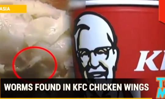 KFC secret recipe revealed: Worms found in chicken wings