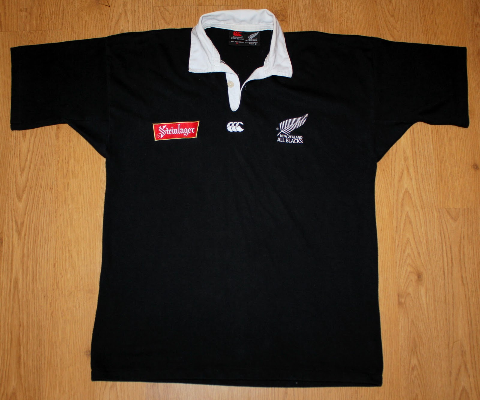 All black t shirt new zealand - New Zealand All Blacks 1994 1996 Home Ss Rugby Jersey