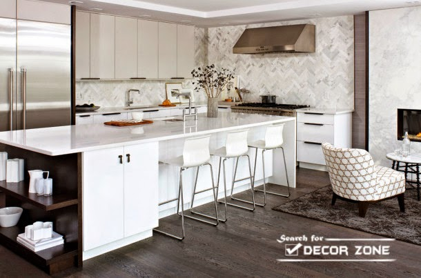Modern Kitchen Bar kitchen bar stools: how to choose materials and designs