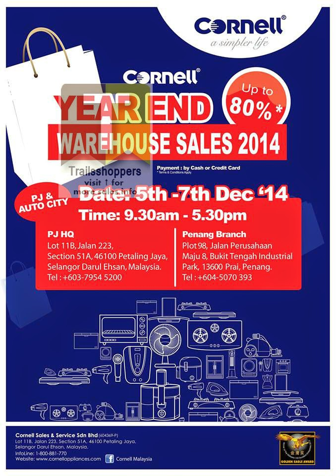 Cornell Year End Warehouse Sales offer selangor penang