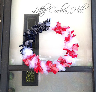memorial day independence day wreath