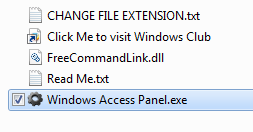 Windows access Panel