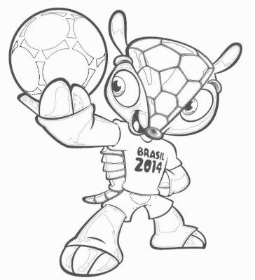 Colorear Mascota del Mundial Brasil 2014