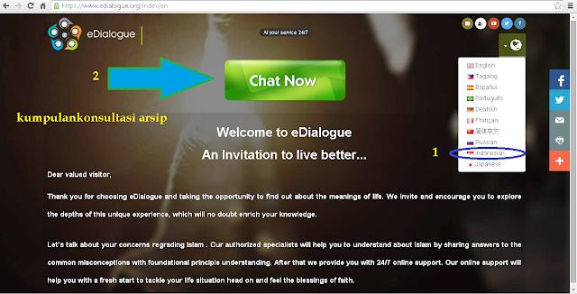 situs edialoque layanan chatting mengenal islam, rahasia terjaga