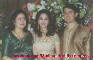 Madhuri Dixit with Husband and Meena Kumari