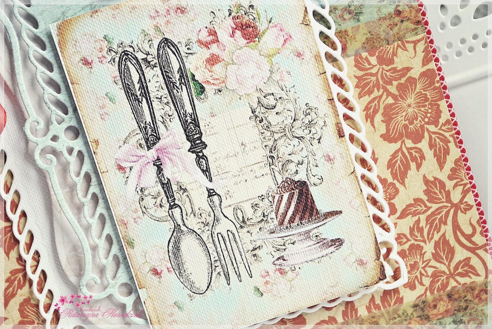 Przepiśnik notatnik kulinarny scrapbooking