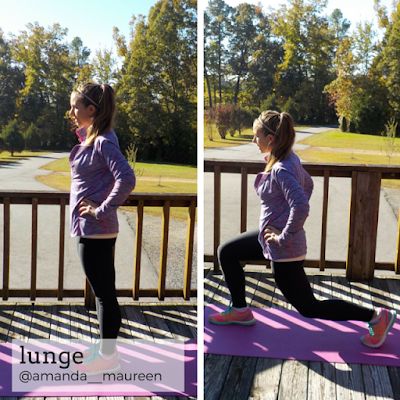 Fitness, HIIT, Sweat Pink, Workout Wednesday, lunge