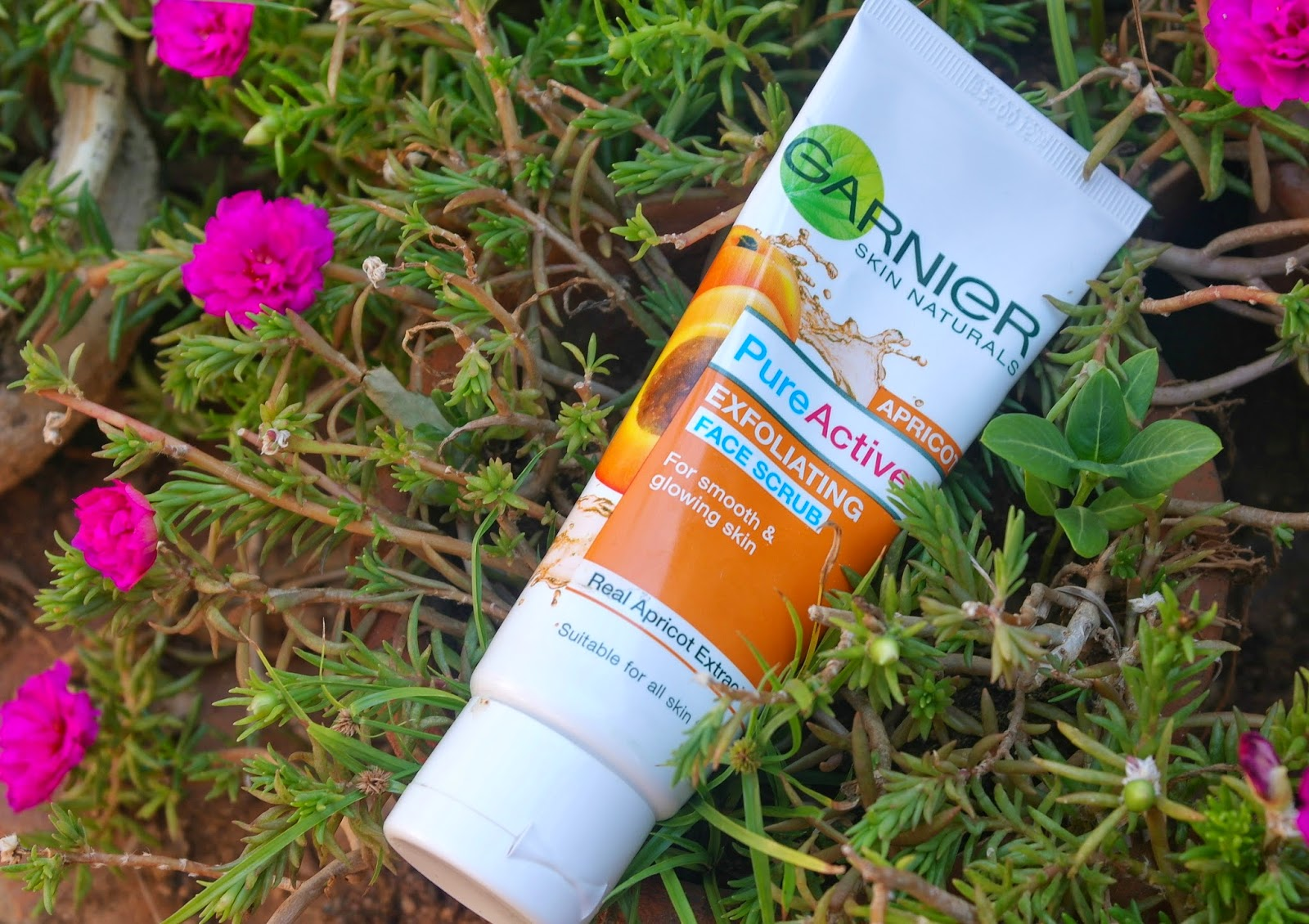 Garnier pure active apricot face scrub review