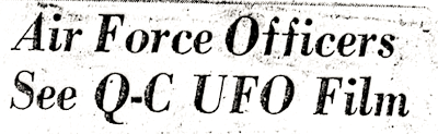 The Day the UFO Paid A Call, Recalls Retired Moline Officer