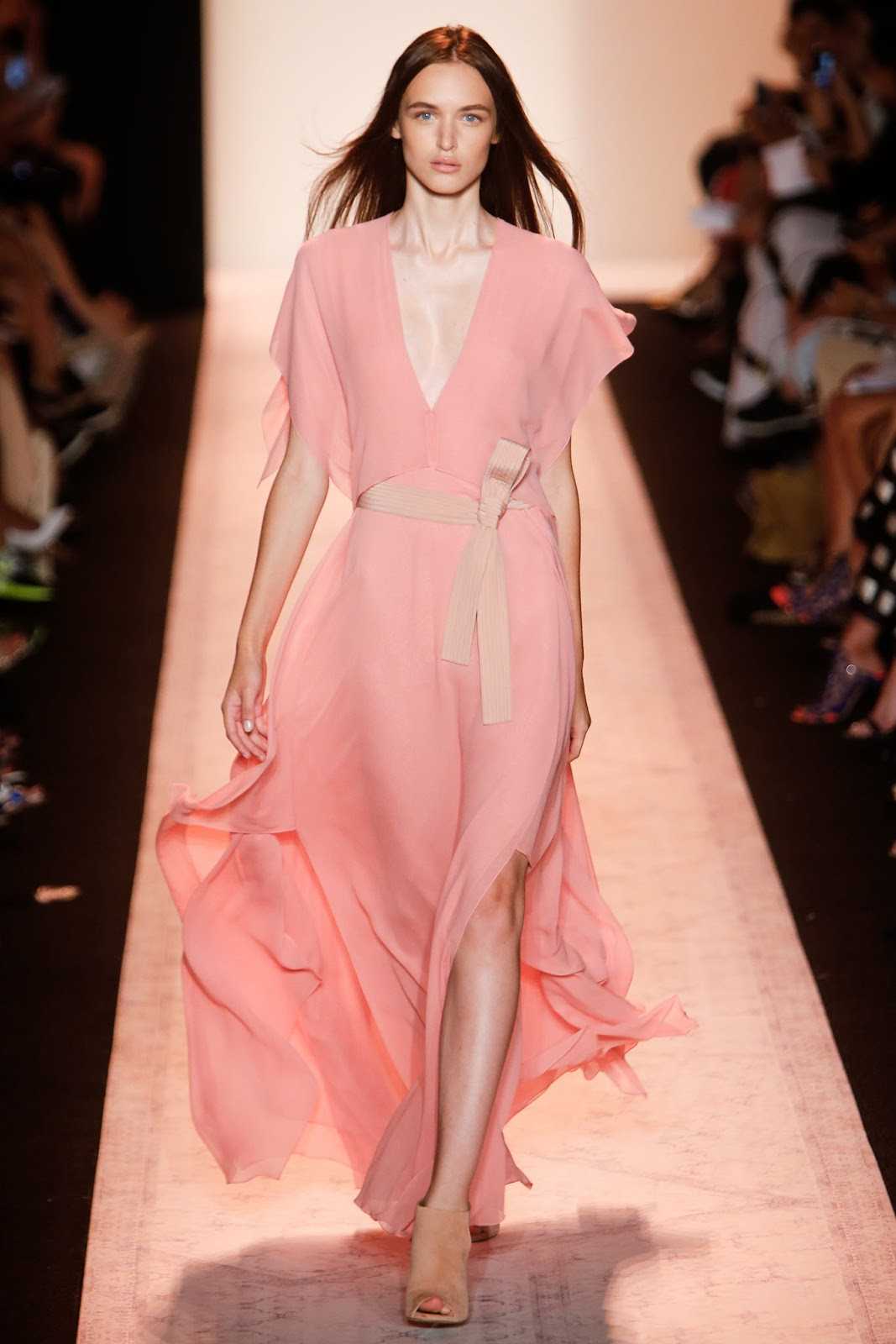 Pantone colour trend report 2015 / strawberry ice on a runway at BCBG Max Azria Spring/Summer 2015 via fashioned by love brutish fashion blog