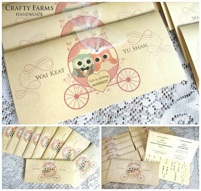 Wedding Gift For Bride And Groom Singapore : ... Crafty Farms Handmade : Cute Owl Bride and Groom Cartoon Wedding Card